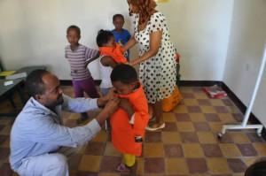 Receiving Uniforms for Mulat Knowledge School