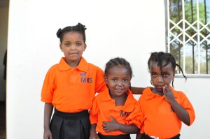 Children in uniforms at Mulat Knowledge School