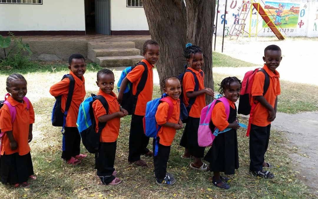 Delivering Backpacks to Mulat Knowledge School