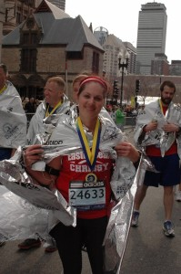 Marathon finisher Christine